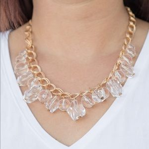 Gorgeously Globetrotter Gold Necklace/Earrings
